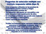 preguntas de selecci n m ltiple con m ltiple respuesta v lida tipo x
