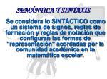 sem ntica y sintaxis
