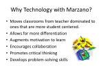 why technology with marzano