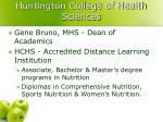 huntington college of health sciences