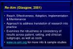 re aim glasgow 2001