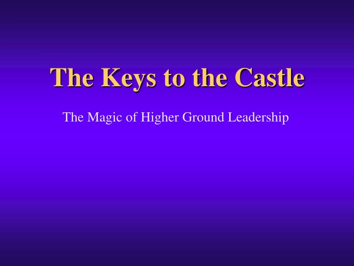the keys to the castle n.