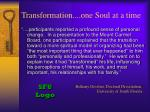 transformation one soul at a time
