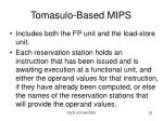 tomasulo based mips