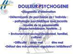douleur psychogene