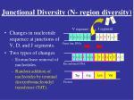 junctional diversity n region diversity2
