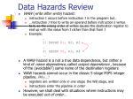 data hazards review1