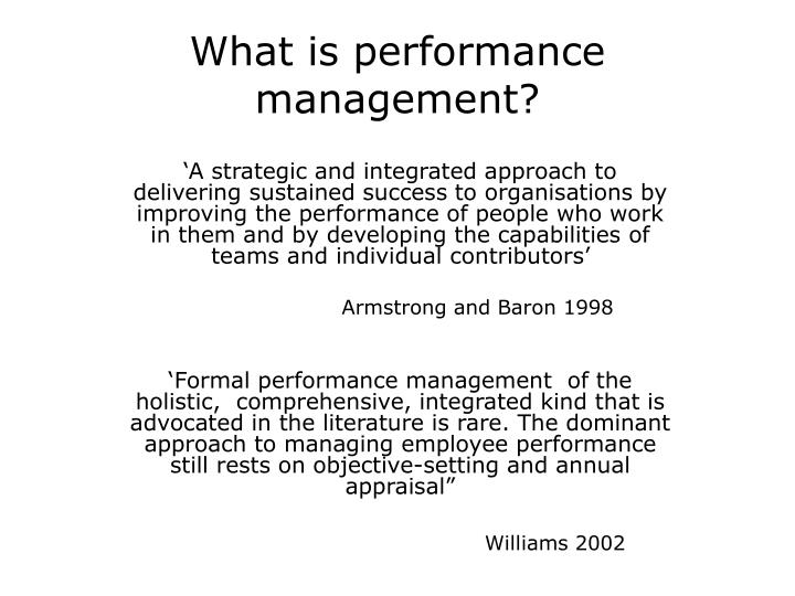what is performance management n.