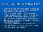 nato the warsaw pact