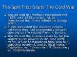 the split that starts the cold war