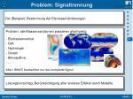 problem signaltrennung