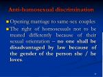 anti homosexual discrimination