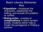 basic literary elements plot
