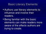 basic literary elements