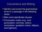 conventions and writing1