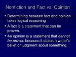 nonfiction and fact vs opinion1