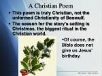 a christian poem
