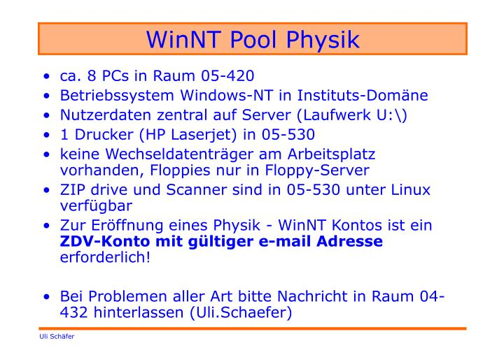 winnt pool physik n.