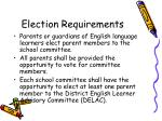 election requirements
