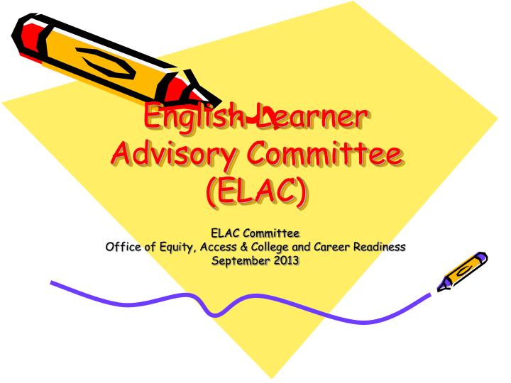 english learner advisory committee elac n.