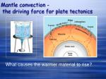mantle convection the driving force for plate tectonics