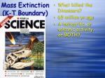 mass extinction k t boundary