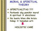 moral spiritual theory