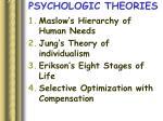 psychologic theories