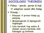 sociologic theories