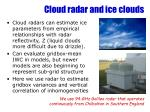cloud radar and ice clouds