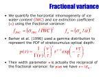fractional variance