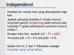 independensi