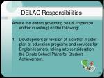 delac responsibilities