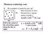 thomson scattering cont