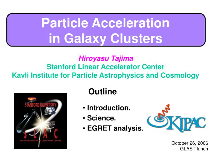 particle acceleration in galaxy clusters n.
