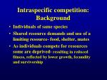 intraspecific competition background