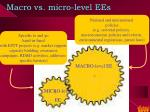 macro vs micro level ees