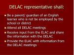 delac representative shall