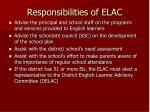 responsibilities of elac