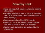 secretary shall