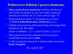 podstawowe definicje i prawa chemiczne