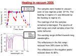 heating in vacuum 2006