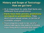 history and scope of toxicology how we got here3