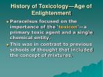 history of toxicology age of enlightenment1