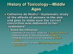 history of toxicology middle ages2