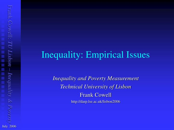 inequality empirical issues n.