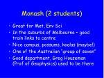 monash 2 students