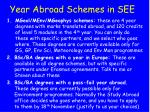 year abroad schemes in see