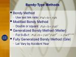 bondy type methods