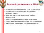 economic performance in 2004
